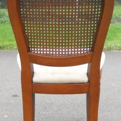 Bergere Dining Chairs Wood Table And For Toddlers Sold Set Of Six Walnut Oval Back